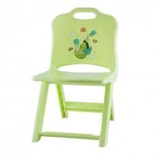 Стул детский раскладной зеленый