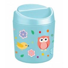Емкость для мусора 0,75л с декором детск. /БП/
