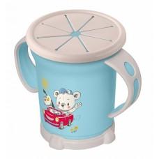 Чашка для сухих завтраков 0,27л детская с декором 2ручки голубой /БП//