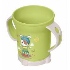 Кружка 0,27л детская с декором 2ручки (чашка) зеленый /БП//