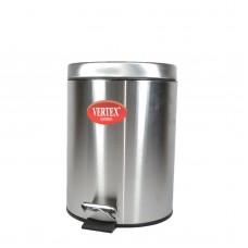 Емкость для мусора нерж 5л с педалью мрамор Vertex-Nyo /Vertex/