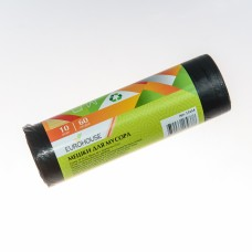 Мешки для мусора 60л/10шт 25мкм ПВД /EuroHouse/