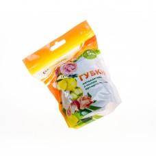 Губка для посуды метал с мылом 5шт*10гр Лимон /EuroHouse/