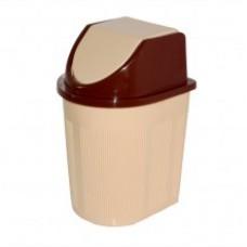 Емкость для мусора 6л с плав крышкой (контейнер) /МП/