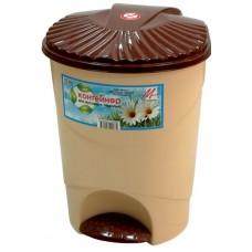 Емкость для мусора 15л с педалью (контейнер) /МП/
