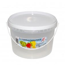 Контейнер для продуктов кругл. 3,0л герм. с ручкой (ведро) /МП/