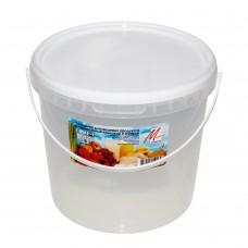 Контейнер для продуктов кругл. 5,0л герм. с ручкой (ведро) /МП/