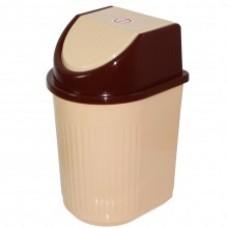 Емкость для мусора 10л с плав крышкой (контейнер) /МП/