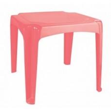 Стол детский 520*520*475мм розовый/коралловый /БП/