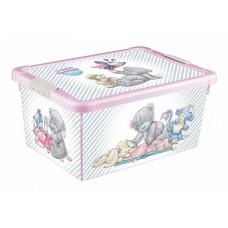 Ящик для игрушек 335*240*155мм Me to you 12л розовый /БП/