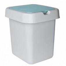 Емкость для мусора 9л с плав крышкой Квадра /пх/