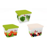 Контейнер для заморозки продуктов Браво квадр. 0,75л с декором (емкость) /ПЦ/