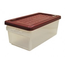 Ящик для хранения с боковой дверцей 12л бордовый /ПЦ//