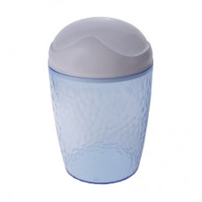 Емкость для мусора 1,0л Natural stone голубой (контейнер) /пх/