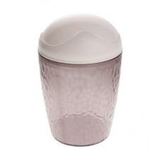 Емкость для мусора 1,0л Natural stone черный (контейнер) /пх/