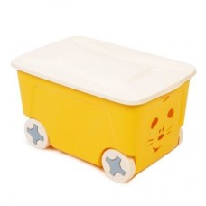 Ящик для игрушек Cool 50л на колесах желтый /ПЦ//