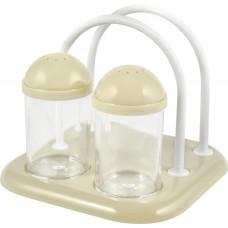 Набор для специй 2х50мл+салфетница молочный /PT/