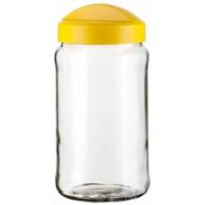 Ёмкость д/сыпучих продуктов кругл. Avena 1,5л стекло солнечный /Berossi/