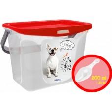 Контейнер для корма животных 6л Собаки+совок роза (емкость) /Berossi/
