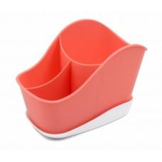 Сушилка д/стол. приборов 3-х секц. Krita коралл /Berossi/