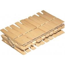 Прищепки 20шт деревянные Эко /Azur/
