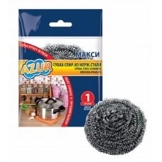 Губка для посуды метал maxi спиральная /Azur/