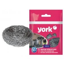 Губка для посуды метал спиральная mini /York/