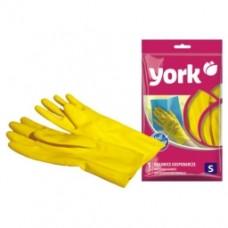 Перчатки резиновые р. S /York/