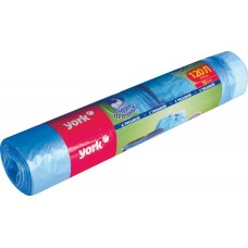 Мешки для мусора 120л/10шт 21мкм с тесьмой прочные /York/